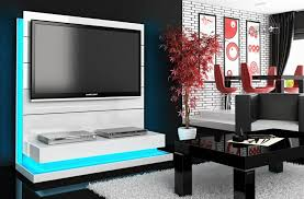 meuble tv caché meuble tv hubertus panorama blanc high gloss audiovisuel solution