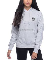 women u0027s hoodies u0026 sweatshirts obey phenomenology dept grey