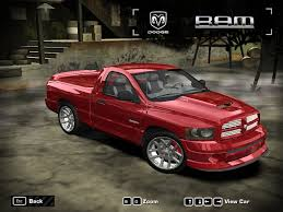 dodge truck car need for speed most wanted dodge ram srt 10 nfscars