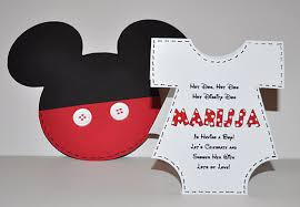 Free Mickey Mouse Baby Shower Invitation Templates - baby shower invitations charming mickey mouse baby shower