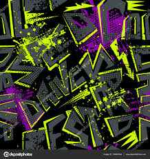pattern design words abstract seamless pattern with letter grunge urban black background