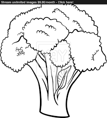 broccoli vegetable cartoon for coloring book vector yayimages com