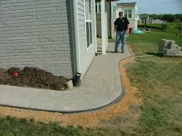 Patio And Walkway Designs by Brick Paver Walkways And Patios Fredericksburg Va Landscaping