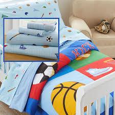 Sports Toddler Bedding Sets Blue Sports Toddler Bedding 4pc Bed In A Bag Set Comforter Sheets