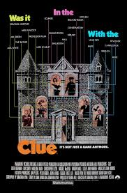 clue 1984 movie posters fonts in use