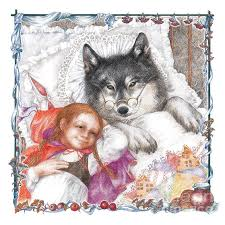 red riding hood wolf drawing sonya olee