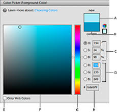 choose colors in photoshop elements