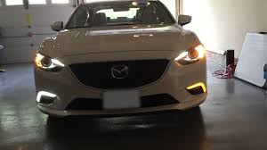 2016 mazda 3 fog light kit 2015 mazda 6 drl fog lights youtube