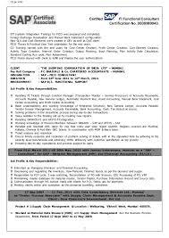 sap fico sample resume sap fico resume sample sample sap resume