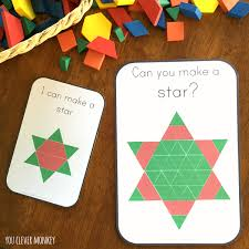christmas pattern block challenge cards you clever monkey