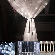 daylight white 594 led window curtain icicle lights with 8 modes
