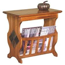 Oak End Tables Rustic Oak Magazine Rack And End Table Rc Willey Furniture Store