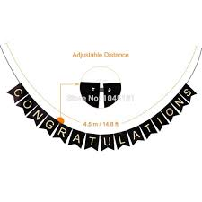 wedding congratulations banner black and gold congratulations banner flags tissue paper pom poms