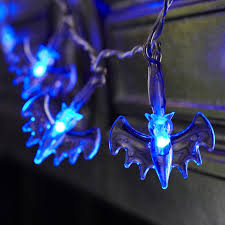 halloween light show this is halloween battery operated halloween bat fairy lights with 20 blue leds by
