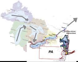 Hudson River Map Billhustonblog Ny Pa Watersheds Map