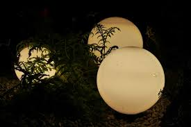 free photo outdoor lighting garden lighting balls ls
