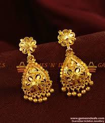 kerala earrings er365 gold like kerala design imitation jewelry bridal wear online