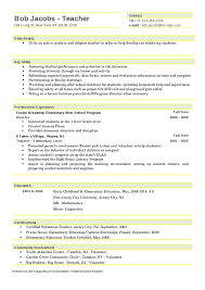 Teaching Resume Template Resume Sles 2016 Experience Resumes Resume
