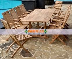 teak patio table with leaf teak patio table and chairs