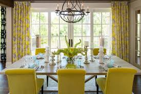 Blue And Grey Curtains Yellow And Grey Curtains Dining Room Transitional With Blue Glass