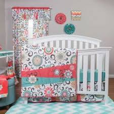Nursery Bedding For Girls emma turquoise and coral baby bedding 9pc girls floral crib set by