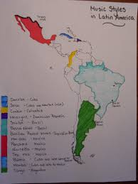 Mexico Central America And South America Map by Music Styles In Latin America Map Alaina Kelly