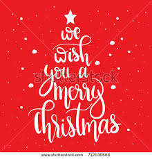 we wish you merry christmasunique stock vector 712030666
