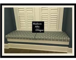 mudroom bench cushion window seat cushion in custom fabric