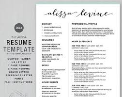 Custom Resume Templates Resume Template Cv Template For Word Printable Social