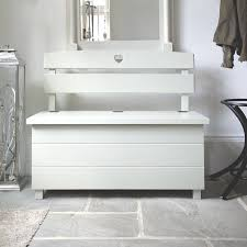Bathroom Bench With Storage by Pine Storage Bench Double Seat By The Orchard