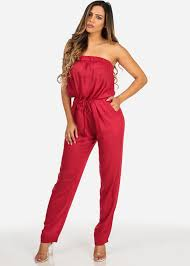 jumpsuits for juniors juniors cotton solid strapless jumpsuits