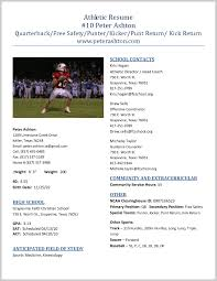 sports resume template outstanding athletic resume template 265505 resume ideas