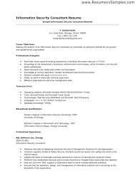 Consultant Resume Samples by Security Consultant Cover Letter