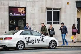 best resignation letter ever u0027up yours i quit u0027 graffiti car
