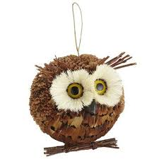 feather owl ornament owl wish you a merry