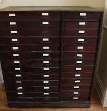 Flat File Cabinet Wood by Antique Oak Flat File Storage Cabinet Ebth
