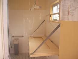 wall mounted folding laundry table maximizing small spaces bathroom after remodel with diy wood wall