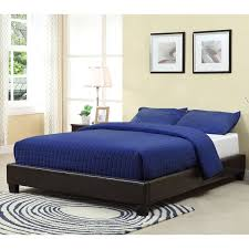 brown upholstered platform bed free shipping today overstock