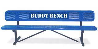 Picnic Benches For Schools Buddy Bench Is One Way To Help Kids Interact At The Park Blog
