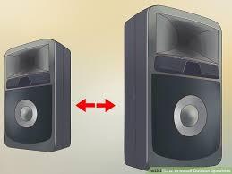Wireless Outdoor Patio Speakers 3 Ways To Install Outdoor Speakers Wikihow