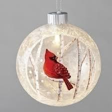 4 3 4 led cardinal ornament ornaments ornaments tree