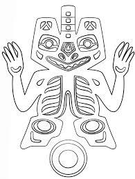 haida art deity canadian art coloring page art u0026 culture