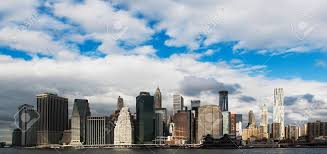 manhattan skyline panoramic view of manhattan skyline new york city usa stock photo