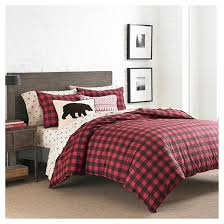 What Is A Duvet Cover And Sham Mountain Plaid Duvet Cover And Sham Set Red Eddie Bauer Target