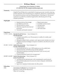Examples Of Strong Resumes by Best Payroll Specialist Resume Example Livecareer