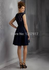 navy blue lace bridesmaid dress navy blue lace knee length bridesmaid dresses naf dresses