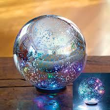 mercury glass ball lights gifts color changing mercury glass ball