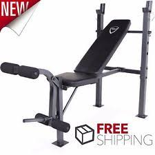 Weight Bench With Bar - olympic weight bench set cap barbell deluxe with 100lb weights
