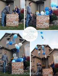 balloons in a box gender reveal party reveal how to snickerplum s party