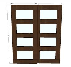 Closet Door Measurements White Bypass Closet Doors Diy Projects